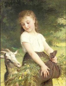 Capricorn goat painting