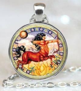 saggitarius vintage pendant
