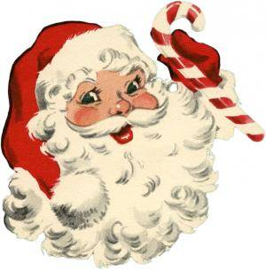 santa with candy