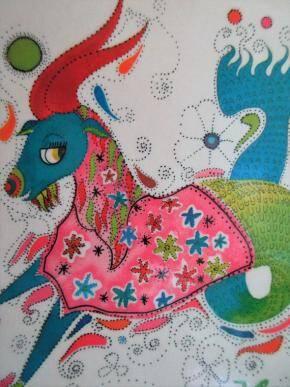 capricorn pink goat