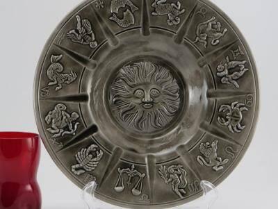 Zodiac Ashtray old