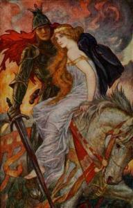 venus and mars on horseback