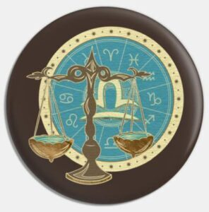 Libra round teal